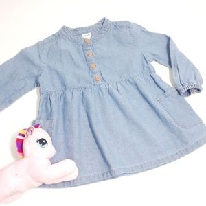 Carter's Baby Girl Denim Dress Button-down 9M